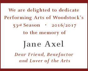 Dedication to the Memory of Jane Axel